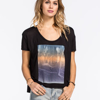 Full Tilt Young Wild Free Womens Tee Black  In Sizes