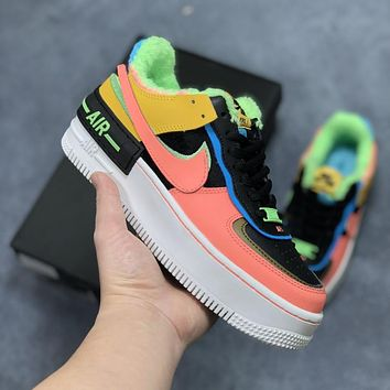 Nike Air Force 1 Shadow lightweight high-low-top versatile sneakers shoes
