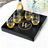 """Personalized 16"""" Wooden Serving Tray"""