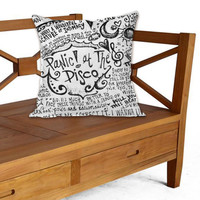 Panic at The Disco Lyric on Pillow cover by ElegancePerfect