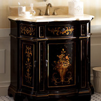 Ambella Ebony Floral Chest with Sink