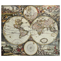Land and Sea World Map Decal