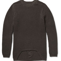 Rick Owens - Ribbed-Knit Wool Sweater   MR PORTER