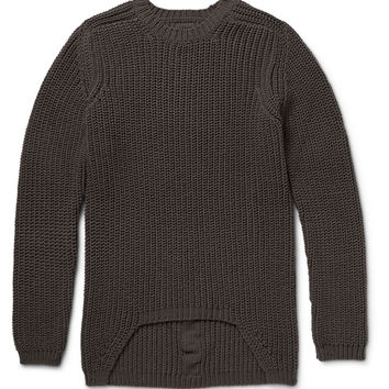 Rick Owens - Ribbed-Knit Wool Sweater | MR PORTER