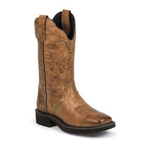 Justin Women's L2907 Classic Gypsy Cowboy Boots - Caramel Cow