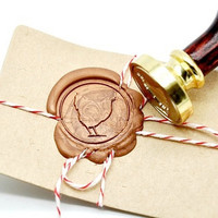 Hen Chicken Farm Animal Gold Plated Wax Seal Stamp x 1