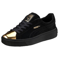 Suede Platform Gold Women's Sneakers, buy it @ www.puma.com