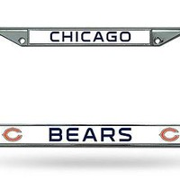 Chicago Bears NFL Chrome Metal License Plate Frame