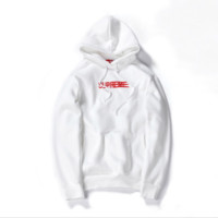 Supreme autumn and winter tide brand men and women lovers new Phantom sweater coat jacket plus flannel White