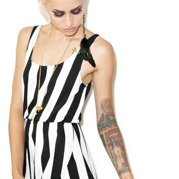 Mink Pink All Down To You Playsuit Black/White