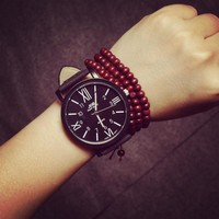 Korean Fashion Dial Couple Watch Quartz Watch [8863742599]