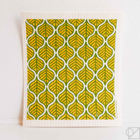 Swedish Dishcloth Batik Leaves