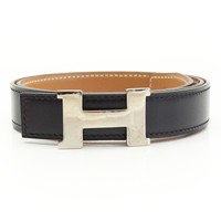 AUTHENTIC HERMES MINI CONSTANCE H BELT B BLACK BROWN GRADE AB USED -AT
