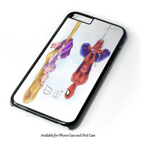 Disney Tangled And Spiderman Design for iPhone 4 4S 5 5S 5C 6 6 Plus, and iPod Touch 4 5 Case