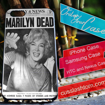 Exclusive Marlyn Dead iPhone for 4 5 5c 6 Plus Case, Samsung Galaxy for S3 S4 S5 Note 3 4 Case, iPod for 4 5 Case, HtC One M7 M8