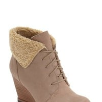 Caslon® Gaby Faux Shearling Lace-Up Bootie (Women) | Nordstrom