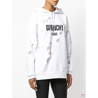 Givenchy Woman Men Fashion Ripped Top Sweater Pullover