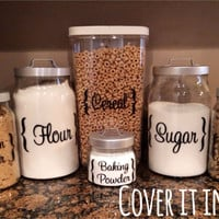 Canister Labels - Customizable (set of 4)