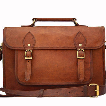 Leather Camera Bag / Satchel / Messenger Bag - Two in One - Vintage Retro Look (Large)