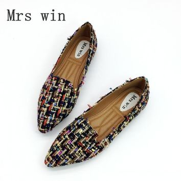 Spring Autumn Women Ballet Flats Shoes for Woman Casual Loafers Single Shoes Lady Soft Work Draving Footwear Zapatos Mujer