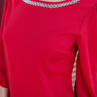 Rockin' Rhinestones Blouse, Red