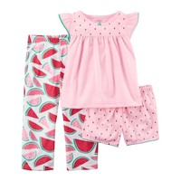 Toddler Girl Carter's 3-pc. Watermelon Pajama Set | null