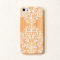 Wooden White Mandala Filigree Boho Indian iPhone 5C/S/5 case