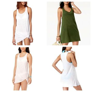 Miken Sheer Tank Dress Racerback Swimwear Cover-up,  Various Sizes, Colors