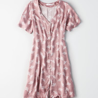 Don't Ask Why Lace-Up Back Dress, Mauve