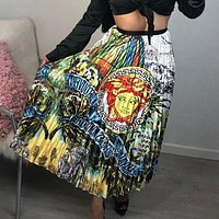 VERSACE Fashionable Women Personality Print Skirt