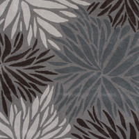 Jaipur Rugs Modern Floral Pattern Gray Polyester Area Rug MYS01 (Rectangle)