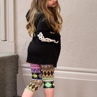 Kids Black Long Sleeve with Lace Sleeves