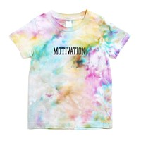 Kid's Watercolor Tie-Dye Logo T-Shirt White / Multi