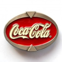 Coca Cola Brand Special Edition Pewter Made In USA belt buckle