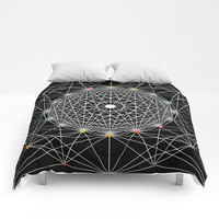 Geometric Circle Black/White/Colour Comforters by Fimbis