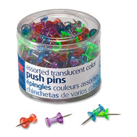OIC Translucent Pushpins Assorted Colors Pack Of 200 by Office Depot & OfficeMax