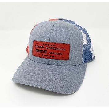 Make America Country Again Heather Gray Flag Hat