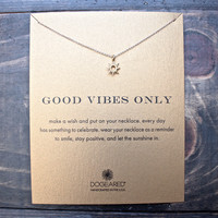 "dogeared ""Reminder - Good Vibes Only"" 18"" dainty necklace"