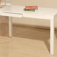 White Student Desk Computer Furniture Writing Drawing Study School Traditional