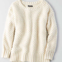 AEO Textured Boucle Sweater, Cream
