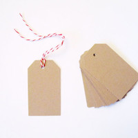 Small Gift Tags/ Blank Shipping Tags/ Shipping Label/ Gift Label/ Set of 30/ Kraft Tags/ white/ black/ cream tags/ Hand stamped shipping tag