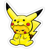 Pikachu dressed as Pikachu