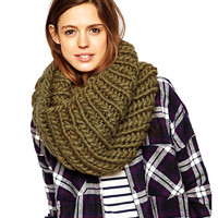 Cable Knit Cowl Scarf