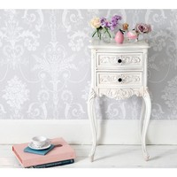 Provencal Perfect 2-Drawer White Bedside Table