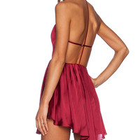 NBD Get Out Dress in Burgundy