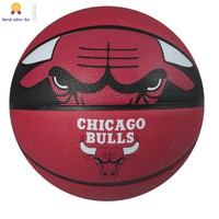 "Spalding NBA 29.5"" Chicago Bulls Courtside Rubber Basketball Outdoor 2k17 mens"