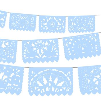 Mexican Party Supplies 5pk Fiesta Banners in Light Blue WS900