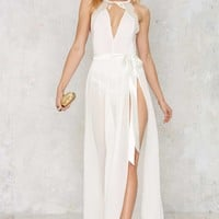 Jump Maxi Sheer Skirt - White