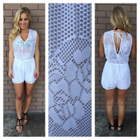 White Net Cover Up Romper