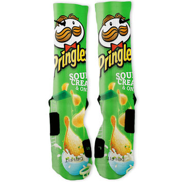 Pringles Green Custom Nike Elite Socks
